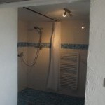 Accessible bedroom with wheel-in shower
